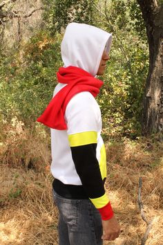 """A hoodie with high standards!!! This will be the one! This cosplay hoodie was inspired by Papyrus of the Undertale video game. It follows his """"battle body"""" with yellow and red trims and skeletal black"""