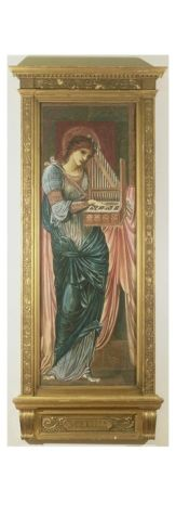 St. Cecilia (Tempera on Panel) by Sir #Edward #Burne-Jones