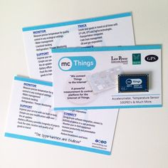 mcThings ‏@mcThings_iot: Some fun marketing material for our visitors @iotworldnews !#iotworld16 #promo #marketing #swag #mcthings #iot #tech