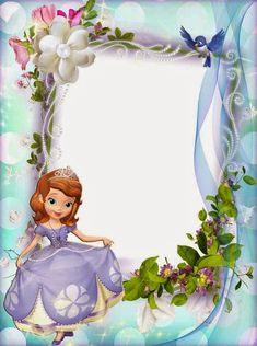 You are cordially invited to the royal celebration. Princess Sofia Birthday, Sofia The First Birthday Party, Happy Birthday, Picture Borders, Disney Frames, Boarder Designs, Princesa Sophia, Boarders And Frames, Kids Background