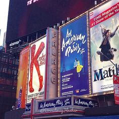 broadwayflasher:An American in Paris has their complete marquee up now. Looking great! #anAmericaninparis #broadway #musicals #marquee #palace #theater #theatre #newyork #timessquare