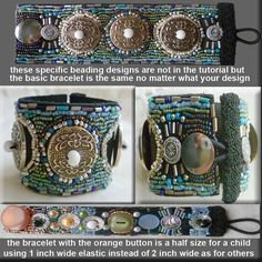 Tutorial Button Bracelet  Bead and Button by JewelryonPicadilly, $4.00