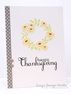 Happy Thanksgiving by Vera W. Yates for the Simon Says stamp Wednesday challenge (Thanks/Thanksgiving)