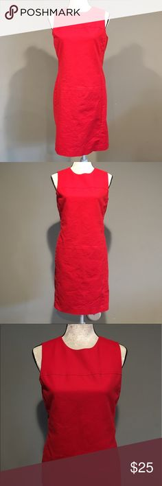 """Lauren Ralph Lauren Red Dress Lauren Ralph Lauren deep holly berry red Sheath Dress.  Size 8. Has a Cowl neck line and a 19.5"""" zipper in back with eyelet closure.  Very pretty red! Measures 36"""" from shoulder to hem and 19"""" across the chest laying flat.  Has a built in liner.  Dress is made of 98% cotton and 3% elastane. Liner is 100% polyester.  Offers and bundles welcome! Lauren Ralph Lauren Dresses"""