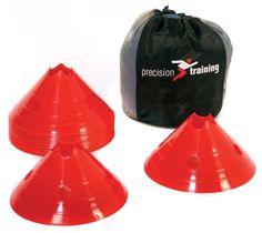 Pylonen / pilonnen rond hoog rood (set 20) | Afbakening | Moos Sports