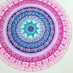 mandala made with stabilo