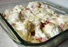 Túrós rakott karfiol Diabetic Recipes, Diet Recipes, Healthy Recipes, Healthy Food, Hungarian Recipes, Hungarian Food, Family Meals, Cookie Recipes, Potato Salad