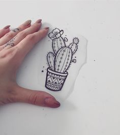 Image result for minimalist cactus tattoo
