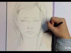 Zeichnen lernen - Portrait Zeichnen - Akademie Ruhr Tutorial - YouTube