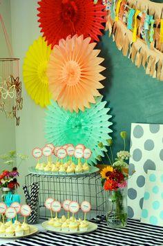 #DIY summer ice cream baby shower! #babyshower