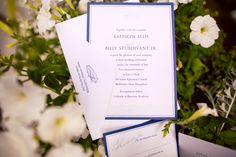 Such a #sophisticated #nautical #weddinginvitation. We love the #crisp #blue + #white, and that #littleboat :) ::Katy + BJ's nautical themed summer wedding in Wolfeboro, New Hampshire:: Invites by #AproposInvites