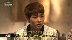 SHINee Onew, leader, comedian and hottie. He says he lives to eat, well, I love to watch him eat, it helps me live:)