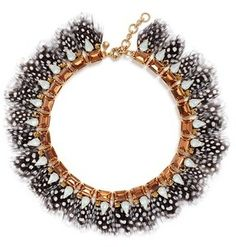J.CREW Feather collar necklace