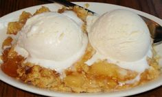 Apple Cobbler Recipe from Liberty Tree Tavern in Walt Disney Worlds Magic Kingdom  http://www.talkdisney.com/forums/disney-recipes/