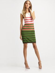 Love this dress! I am all about colour blocked stripes right now. Wish I could find a dress like this for me.