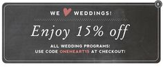 Enjoy 15% off all wedding programs. Use code ONEHEART15 at checkout!