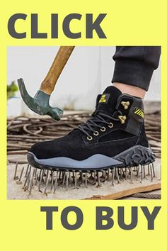this is indestructible shoe with steel toe Casual Boots, Casual Sneakers, Steel Toe Work Boots, Shoes With Jeans, Sneaker Boots, Comfortable Shoes, Hiking Boots, Men's Shoes, Fashion Shoes