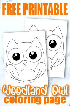 Looking to add a cute forest owl coloring page to your kids forest themed crafts? This free printable baby owl template makes an ideal addition to any toddlers forest animal coloring book or even as a fun art project for kindergartners. Simply, click here and grab your adorable owl coloring page, then start adding your favorite colors! #Owlcoloringpages #Forestanimalcoloringpages #ForestOwlColoringpages #Papercraftsforkids #SimpleMomProject