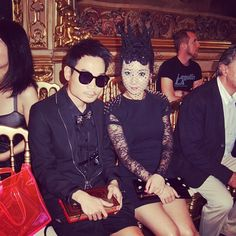 My lovely boss and I @ Philipp Plein fashion show