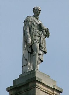 Prime Minister, Charles Grey, the 2nd Earl Grey, atop the Grey Monument, Newcastle upon Tyne, England