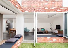 hey chose recycled bricks to add character and to reference the industrial history of Melbourne's Abbotsford district