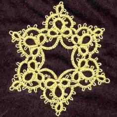 Birgit's Tatting: Kira's Star (or snowflake) - Free pattern #tatting #snowflake