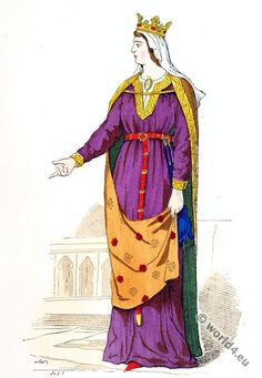 Capetian queens costume. 4th century fashion.