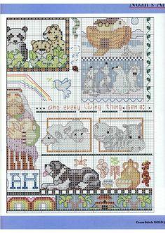 Cross-stitch Noah's Ark, part 6... color chart on part 2...     Gallery.ru / Фото #179 - QUADROS - samlimeq