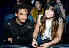 Cute couple! Kylie Jenner and Jaden Smith sit together at the 2013 American Music Awards.