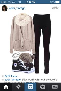 Casual but cute with converse