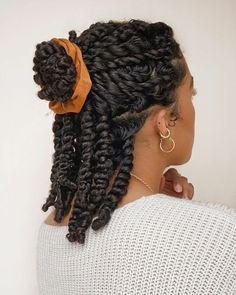 half up half down twisted ponytail