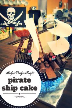 How to make an easy peasy chocolate pirate ship cake!