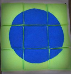 Circle Shape Puzzle Page for Create Your Own Quiet Book