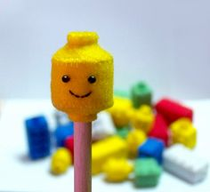 floral blossom blog: lego pencil toppers