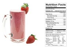 Strawberry Smoothie (NCAA Compliant) made with BiPro Whey Protein Isolate. Your Whey to a Healthier You