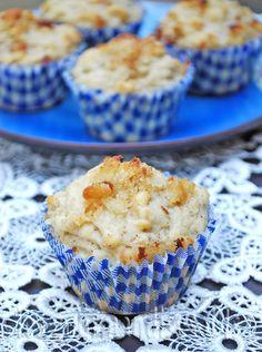 muffins à la compote de pomme et à la pâte d'amande Best Breakfast, Scones, Fondant, Biscuits, Brunch, Cupcakes, Apple, Pain, Food