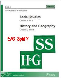 """Ontario Grade 5/6 split?  This blog post reflects on how to handle the """"People and Environments"""" strand of the new 2013 curriculum in this split grade!"""