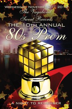 The Annual Prom - Miami. Every Thanksgiving Eve since Thanksgiving Eve, 80s Prom, A Night To Remember, Miami, Auction, Presents, My Favorite Things, Inspiration, Gifts
