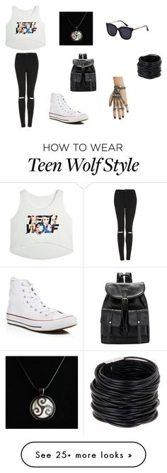 """sorry"" by vane-garcia04 on Polyvore featuring Topshop, Saachi and Converse"