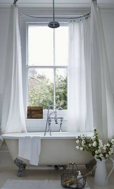 Image Result For Ceiling Mount Shower Curtain Rod Freestanding Tub