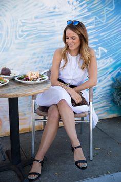 Gal Meets Glam- Zara Dress, Sole Society Sandals, Clare Vivier Bag