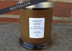 This Creamy Praline Pecan Candle will ignite sweet cravings. It is a strong but sweet scent. A delicious blend of caramelized brown sugar, buttery vanilla and nutty candied pecans! Yum! Available on gehati.etsy,com #weddingfavor #weddinggift #bridesmaidgift #holidaygift #etsyhome #etsyshop #homeaccessories #browncandle #strongscentcandle #modenhomeaccessory #aromatherapy @karleejean @karynjbrooke @sandraheart94 @aussieabroad21 @elenabobysheva @deejbradley @jacquelinebesse @chypete…