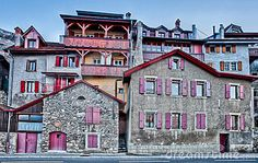 Medieval buildings at the edge of the famous Lavaux, Switzelrand vine hill terraces.