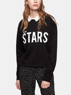 Tekst Sweater Zwart - Costes Fashion