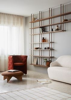 Fogia: Future Classics The new collection at Stockholm Furniture & Light Fair 2019 - Wohnzimmer - Shelves Room Interior, Interior Design Living Room, Living Room Decor, Interior Decorating, Living Room Shelves, Interior Styling, Home Office Design, House Design, Regal Design