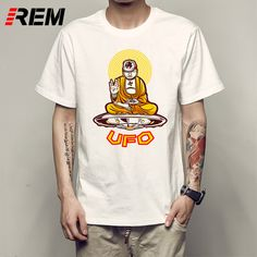 REM Men's t shirt new Harajuku Hipster top tee UFO Cattle Mutilation T-shirt youngster tee shirt p35627 #Affiliate