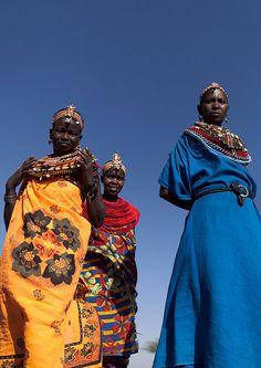 Samburu women with colourful dresses - Kenya