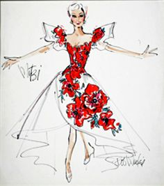 Bob Mackie costume sketch for Mitzi Gaynor from igavelauctions.com This was a GREAT find, many of these I have never seen before!