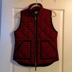 J. Crew buffalo plaid vest. Size small! J. Crew factory buffalo plaid vest. Size small! Perfect condition, worn under 3 times.  J. Crew Jackets & Coats Vests