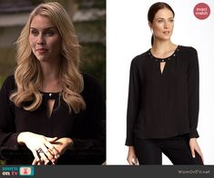 Bellatrix Long Sleeve Stud Embellished Blouse worn by Claire Holt on The…